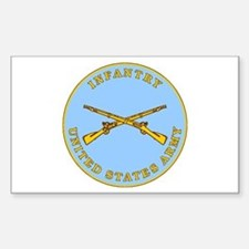 Infantry Plaque Rectangle Decal