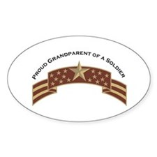 Proud Grandparent of a Soldier Oval Decal