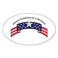 Proud Husband of a Soldier Oval Decal