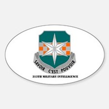 313th Military Intelligence Oval Decal