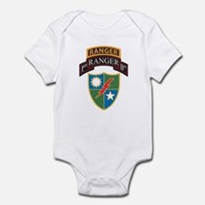 1st Ranger Bn with Ranger Tab Infant Bodysuit