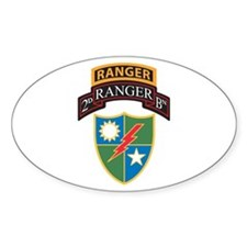 2nd Ranger Bn with Ranger Tab Oval Decal