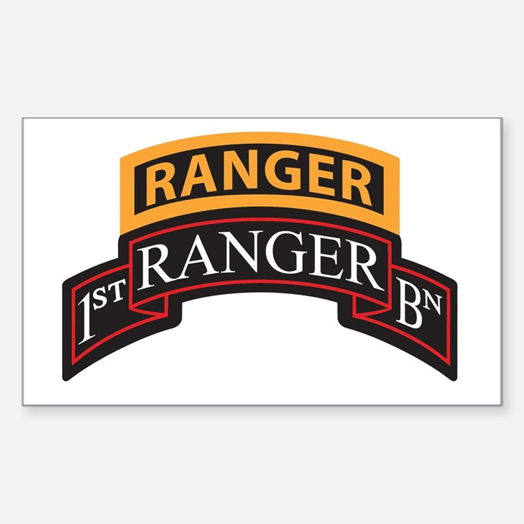 1st Ranger BN Scroll with Ran Rectangle Decal