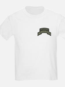 1st Ranger Bn with Ranger Tab T-Shirt