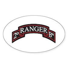 2D Ranger BN Scroll Oval Decal