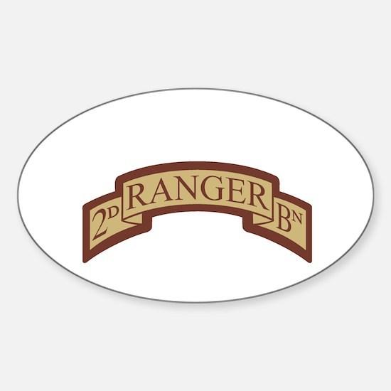 2nd Ranger Bn Scroll Desert Oval Decal