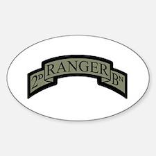 2D Ranger BN Scroll ACU Oval Decal