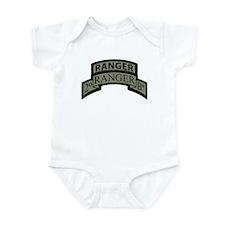 2nd Ranger Bn Scroll/Tab ACU Infant Bodysuit