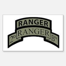 2nd Ranger Bn Scroll/Tab ACU Rectangle Decal