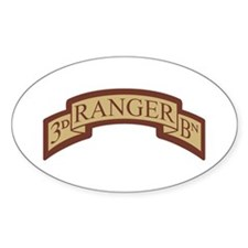 3rd Ranger Bn Scroll Desert Oval Decal