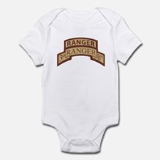 3rd Ranger Bn Scroll/Tab Dese Infant Bodysuit