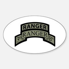 3rd Ranger Bn Scroll/Tab ACU Oval Decal