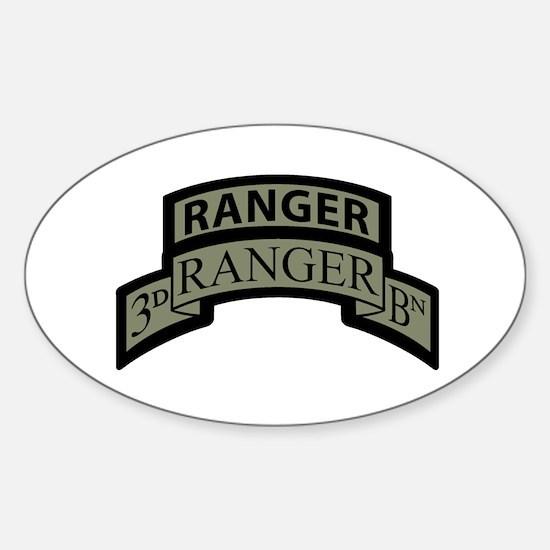 3rd Ranger Bn Scroll/Tab ACU Oval Decal
