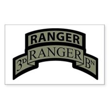 3rd Ranger Bn Scroll/Tab ACU Rectangle Decal