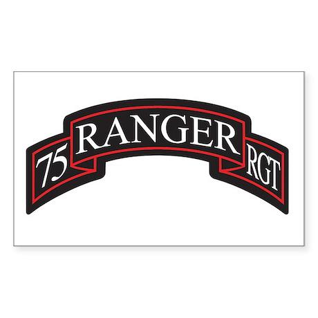 75 Ranger RGT scroll Rectangle Sticker