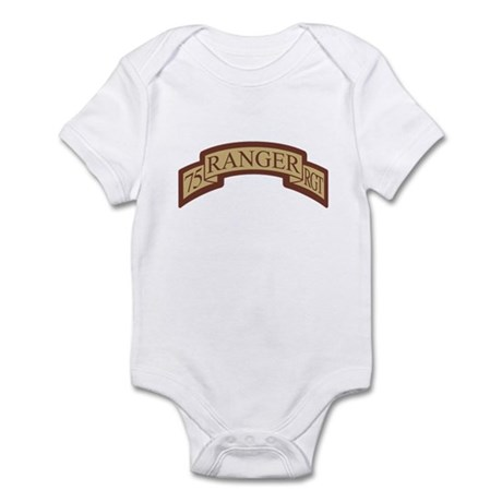 75th Ranger Regt Scroll Deser Infant Bodysuit