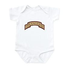 75th Ranger Regt Scroll Deser Infant Bodysuit