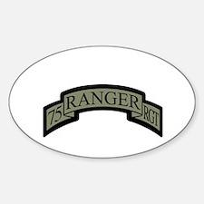 75th Ranger Regt Scroll ACU Oval Decal