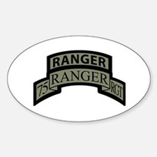 75th Ranger Regt Scroll with Oval Decal
