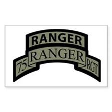 75th Ranger Regt Scroll with Rectangle Decal