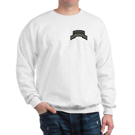 75th Ranger Regt Scroll with Sweatshirt
