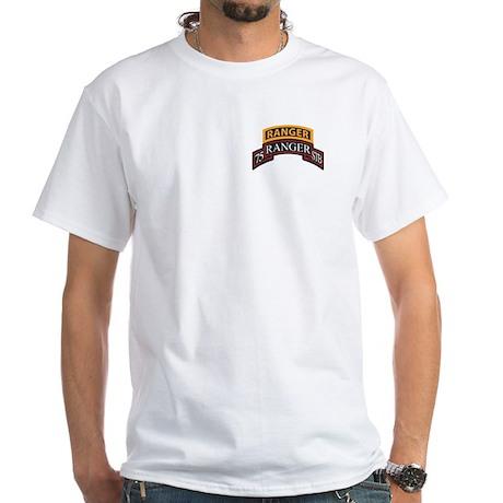 75 Ranger STB scroll with Ran White T-Shirt