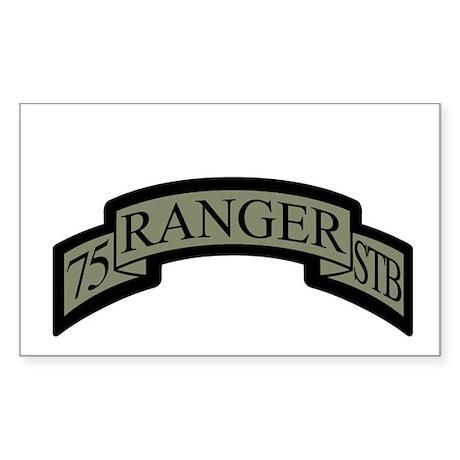 75th Ranger STB Scroll ACU Rectangle Sticker