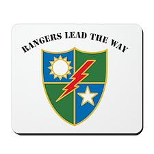 75th Ranger Regiment - Ranger Mousepad