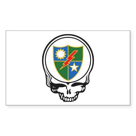 Ranger Skull Rectangle Sticker