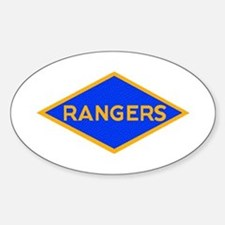 Ranger Diamond WWII Oval Decal