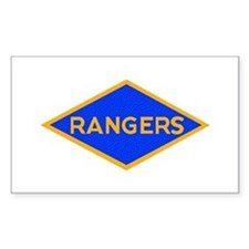 Ranger Diamond WWII Rectangle Decal