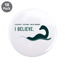 """Nessi - I believe 3.5"""" Button (10 pack)"""