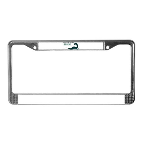 Nessi - I believe License Plate Frame