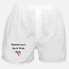 Hairdressers Do It With Style Boxer Shorts
