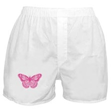 Pink Butterfly Boxer Shorts