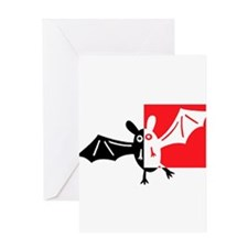 Vampire Bat Greeting Card