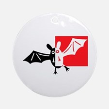 Vampire Bat Ornament (Round)