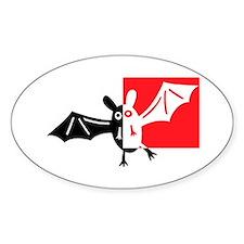 Vampire Bat Oval Decal