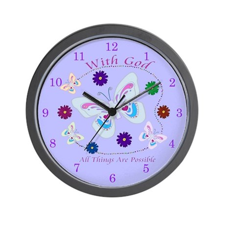 With God All Things Are Possible Wall Clock