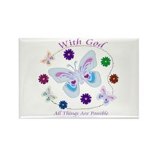 With God All Things Are Possible Rectangle Magnet
