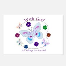With God All Things Are Possible Postcards (Packag