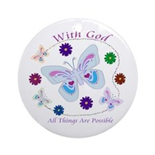 With God All Things Are Possible Ornament (Round)