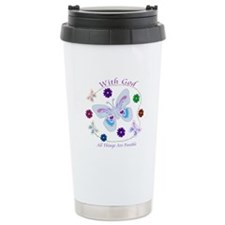 With God All Things Are Possible Thermos Mug