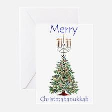 christmas/hanukkah humor gift Greeting Cards (Pack