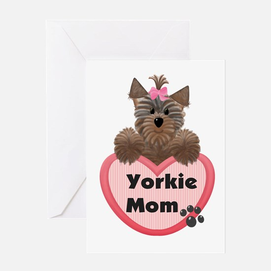 Yorkie Mom Greeting Card