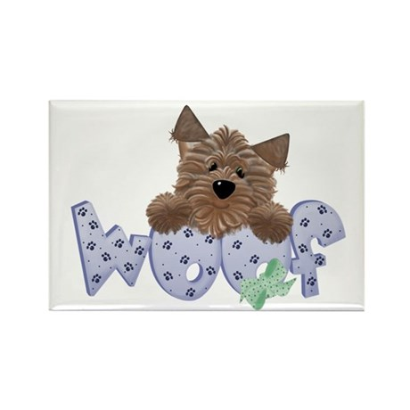 dog woof Rectangle Magnet (100 pack)