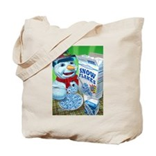 snowman snowflakes snowmen sn Tote Bag