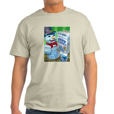 snowman snowflakes snowmen sn Light T-Shirt