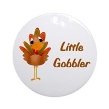Little Gobbler Ornament (Round)