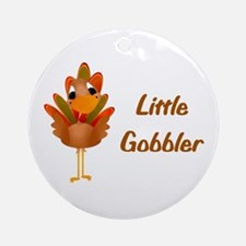 Little Gobbler Ornament (Round)